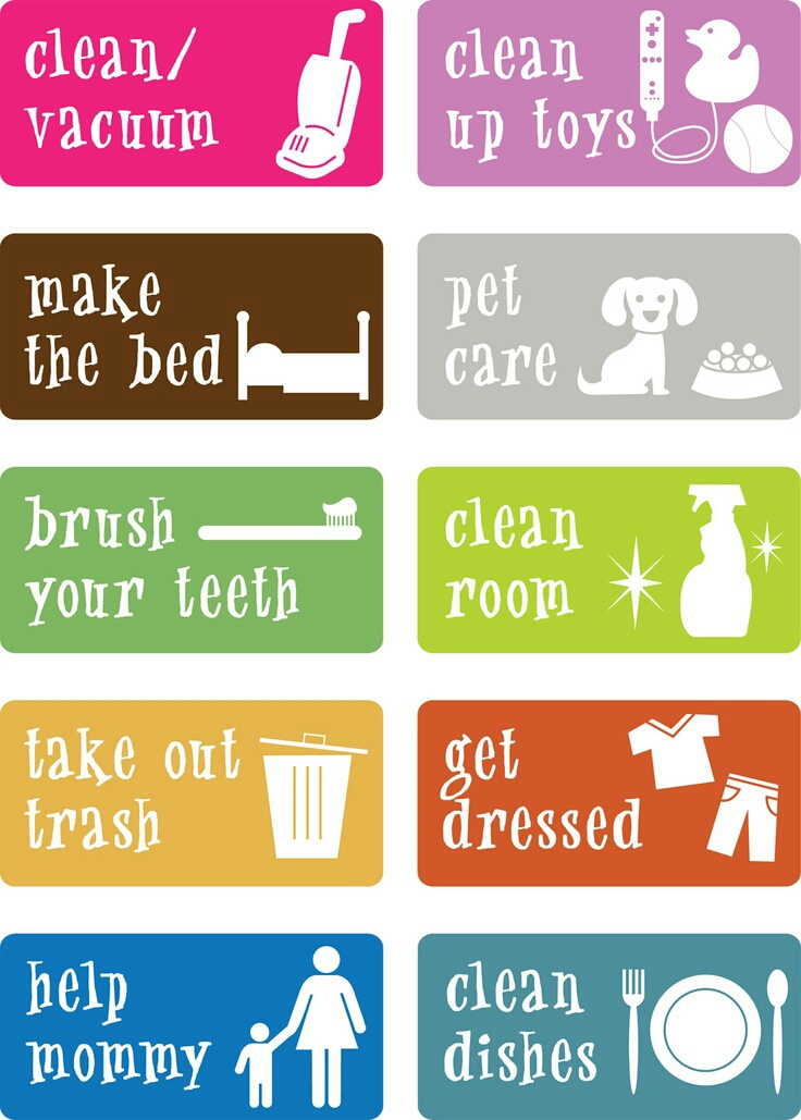 This is a picture of Exhilarating Printable Chore Pictures